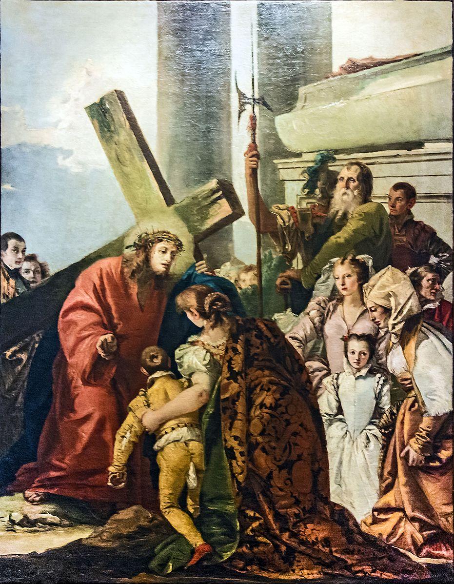 Jesus meets the women of Jerusalem