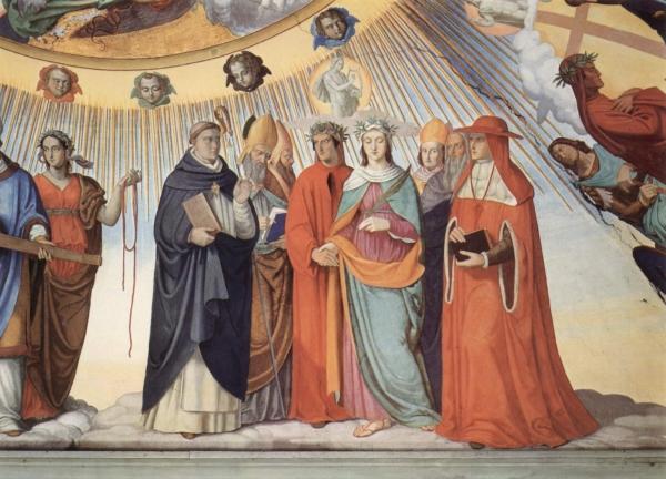 Saint Thomas Aquinas teaching