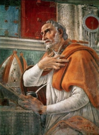 Saint Augustine Portrait - Sandro Botticelli